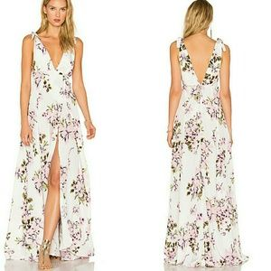 Beach Riot Deep V Floral Gown Size XS